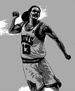 Basketball Digital Art - Joakim by Adam Barone