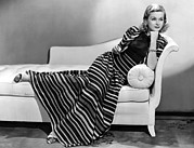 Striped Dress Art - Joan Bennett, Paramount Pictures by Everett