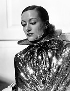 Colbw Metal Prints - Joan Crawford, 1934, Photo By Hurrell Metal Print by Everett