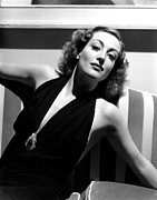 Halter Dress Framed Prints - Joan Crawford, 1936, Photo By Hurrell Framed Print by Everett