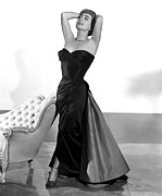 1950s Fashion Photo Metal Prints - Joan Crawford, 1955 Metal Print by Everett