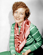 Striped Scarf Prints - Joan Crawford, Ca. 1930 Print by Everett