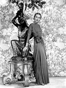 Statue Portrait Prints - Joan Fontaine Print by Everett