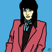 80s Digital Art Framed Prints - Joan Jett Framed Print by Jera Sky