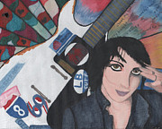 Gibson Mixed Media - Joan Jett by Shondrea M