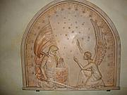 Plaque Reliefs - Joan of Arc blessed by Angel by Goran