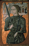 15th Century Prints - JOAN OF ARC (c1412-1431) Print by Granger