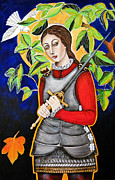 Religious Artist Painting Metal Prints - Joan of Arc Metal Print by Christina Miller