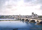 Photochrom Photos - Joan Of Arc, General View Of Orleans by Everett