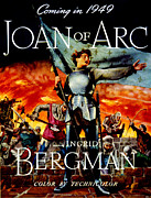 Ingrid Framed Prints - Joan Of Arc, Ingrid Bergman, 1948 Framed Print by Everett