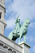 Sacre Coeur Art - Joan of Arc on horseback by Fabrizio Ruggeri