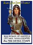 First World War Prints - Joan of Arc Saved France Print by War Is Hell Store