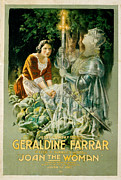 1910s Poster Art Framed Prints - Joan The Woman, Geraldine Farrar Framed Print by Everett