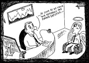 Laughzilla Drawings - Job Interview Cartoon by Yasha Harari