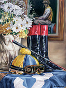 Animals Paintings - Jockey Still Life by Thomas Allen Pauly