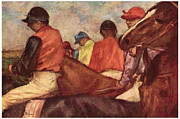 Jockey Paintings - Jockeys by Edgar Degas