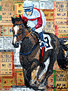 Jockey Mixed Media - Jocky 3 by Michael Lee