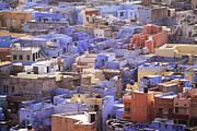 India Metal Prints - Jodhpur Blue Houses Metal Print by Photography by Marcio Ruiz