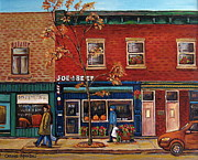 Montreal Streets Paintings - Joe Beef Restaurant Montreal by Carole Spandau