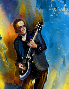 Blues Singers Paintings - Joe Bonamassa 03 bis by Miki De Goodaboom