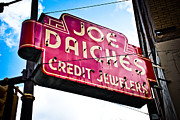Jewelers Framed Prints - Joe Daiches Hanging Sign Framed Print by David Waldo