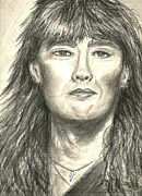Rock Star Drawings - Joe Elliott by Gina Cordova