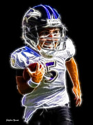 Nfl Prints - Joe Flacco Print by Stephen Younts