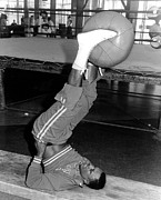Boxer Art - Joe Frazier In Training At The Concord by Everett