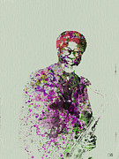 Jazz-stars Prints - Joe Henderson Watercolor  Print by Irina  March