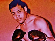 Sports Art Mixed Media - Joe Louis by Gunter  Hortz