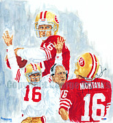 49ers Originals - Joe Montana - The Great Champion by George  Brooks