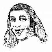 Face Drawings - Joe Mullet by Karl Addison