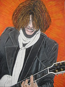 Steven Tyler Painting Originals - Joe Perry On Guitar by Jeepee Aero