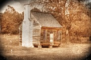 Slat Digital Art - Joel Sweeney cabin by Dan Stone