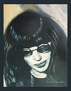 Ramones Prints - Joey Ramone The Ramones Portrait Print by Kristi L Randall