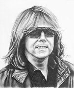 Europe Drawings Framed Prints - Joey Tempest Framed Print by Lena Auxier