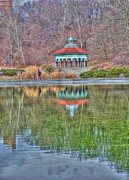 Mt. Airy Framed Prints - Jogging past the pagoda Framed Print by David Bearden