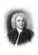 Samuel Drawings Framed Prints - Johann S. Bach Framed Print by Granger