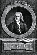 Music Icon Photo Prints - Johann Sebastian Bach 1685-1750 Print by Omikron