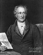 Portrait Artist Photo Framed Prints - Johann Von Goethe, German Author Framed Print by Photo Researchers, Inc.