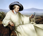 Texting Prints - Johann Von Goethe, German Author Print by Smetek