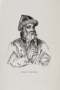 Middle Ages Prints - Johannes Gutenberg, German Printer Print by Middle Temple Library