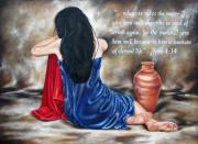 Christian Art - John 4 verse 14 by Ilse Kleyn