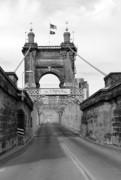 Covington Prints - John A Roebling Bridge Print by David Bearden