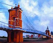 John A. Roebling Bridge Print by Suzzanna Frank