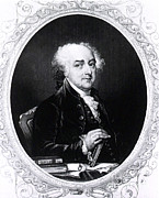 President Adams Framed Prints - John Adams, 2nd American President Framed Print by Photo Researchers