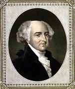 President Adams Framed Prints - John Adams, 2nd President Of The United Framed Print by Everett