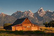 Mountain Valley Prints - John and Bartha Moulton Barn Print by Stuart Wilson and Photo Researchers