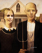 Imagination Mixed Media Posters - John and Kate Plus Eight Poster by Anthony Caruso