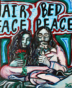 Beatles Art - John and Yoko by Hannah Curran